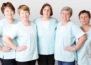 Die Damen vom Reinigungsteam